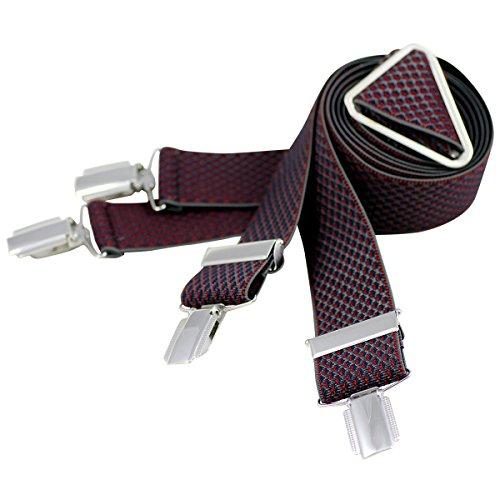 Lindenmann Mens Braces/Suspenders/mens suspenders, X-shape, 35 mm stetch, XXL, red, 7545-004, Größe/Size:110