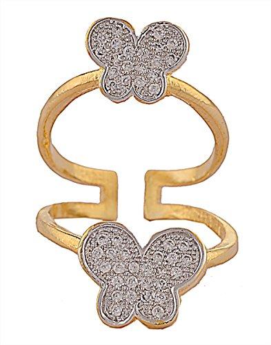 Hecho a mano de dedo Zephyrr con Moda Americana Anillo ajustable del diamante