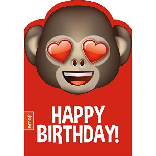 Emoji Emoticon / Emote AFFE Herz Augen Geburtstagskarte