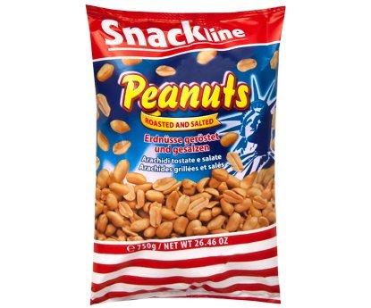 Erdnüsse geröstet und gesalzen im 750g Beutel von Snackline