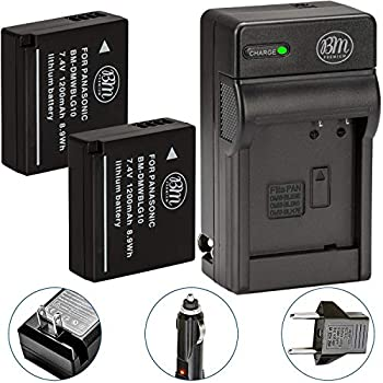 BM 2-Pack of DMW-BLG10 Batteries and Charger for Panasonic Lumix DC-G100 DC-ZS80 DC-GX9 DC-LX100 II DC-ZS200 DC-ZS70 DMC-GX80 DMC-GX85 DMC-ZS60 DMC-ZS100 DMC-GF6 DMC-GX7K DMC-LX100K Camera