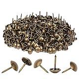 300 clavos tapizados resistentes de 11 x 17 mm, bronce retro, vintage con clavos decorativos antiguos para muebles, muebles, sofás, camas, sillas, DIY chinchetas