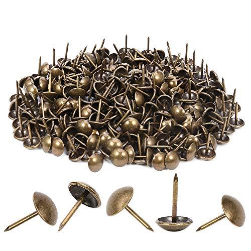 300 clavos tapizados resistentes de 11 x 17 mm, bronce retro