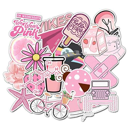 QIANGWEI 50 Cartoon Doodle Life Stickers Speelgoedtas Laptop Skateboard Bagage Waterdichte Sticker Doodle