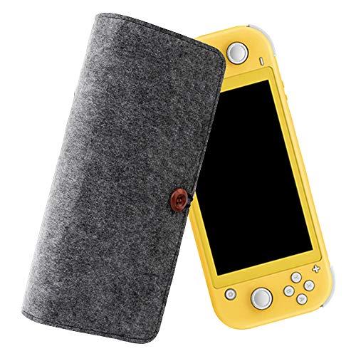 Ztowoto Estuche de Transporte Compatible con Nintendo Switch Lite,Bolsa Protectora portátil de Fieltro para Nintendo Switch Lite,portátil con 5 Ranuras para Tarjetas de Juego