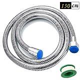 Funxim 1,5m Flessibile Doccia, Tubo Doccia in Acciaio Inox di alta qualità, protezione da...