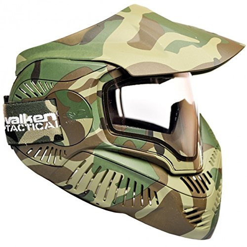 Valken Paintball MI-7 Goggle/Mask with Dual Pane Thermal Lens - Woodland