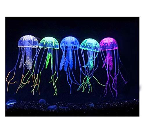 EONAZE Decoración del Acuario Medusas Artificiales, Decoración Medusas Artificiales para la pecera casera, la decoración del Acuario