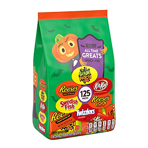 Reese's, KitKat, Twizzlers, Sour Patch, Sweedish Fish Halloween Candy Variety Pack - 57.1oz/125ct
