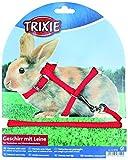 Trixie 6150 Kaninchengeschirr mit Leine, Nylon, 25–44 cm/8 mm, 1,30 m