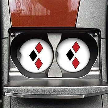 Female Cartoon Character - 3 Diamond Symbol - Car Coaster