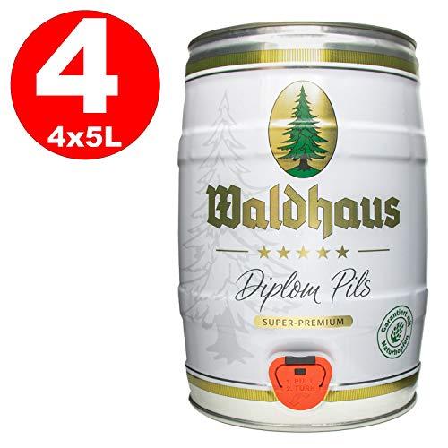 4 x Waldhaus diploma pils 5 litros 4,9% vol. barrilete