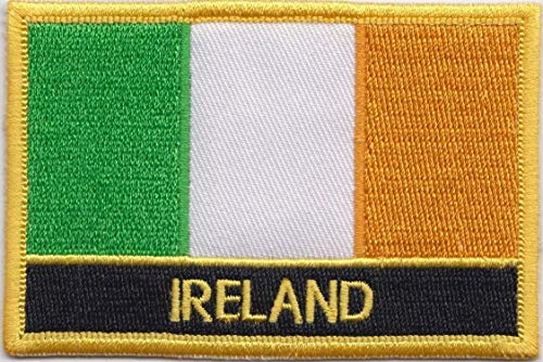 Irland Flagge Patch Aufnäher Bestickt, Rechteckig, Zum Aufnähen oder Aufbügeln, Exklusives Design von 1000 Flaggen