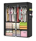 YOUUD Closet Portable Closet Organizer Portable Wardrobe Closet Clothes Closet Portable Closet Wardrobe Closet Organizer Closet Clothes Portable Clothes Closet Clothes Storage Organizer Black