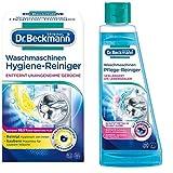 Dr. Beckmann Waschmaschinen Hygiene-Reiniger | Maschinenreiniger mit Aktivkohle (1 x 250 g) + Pflegereiniger 250ml