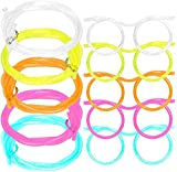 5pcs Silly Straw Glasses, Reusable Fun Party Loop Drinking Straw , Novelty Eyeglasses Straw for Kids Party Annual Meeting Parties Birthday Supplies