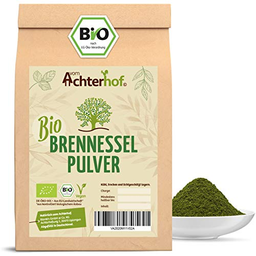 Bio Brennesselpulver (500g) | Rohkost | Brennesselblätter gemahlen | grünes Bio Smoothie Pulver | Brennesselblattpulver