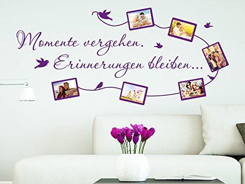 Klebeheld® Wandtattoo Fotorahmen Momente vergehen - Erinnerungen bleiben
