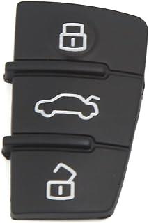 sourcing map Schlüssel Gehäuse Auto Fernbedienung 3 Tasten Gummi Pad Cover für A3 A4 A6 Q5 Q7