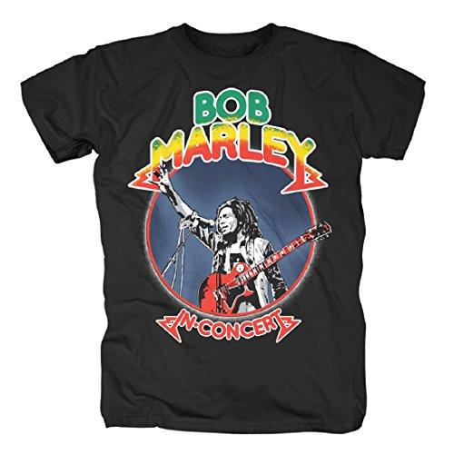 Bob Marley - Camiseta - para hombre Negro S