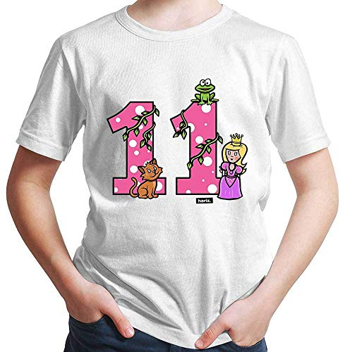 Hariz – Camiseta para niño, princesa, cuento de cuento de hadas, 11 cumpleaños, regalo Blanco 12 años