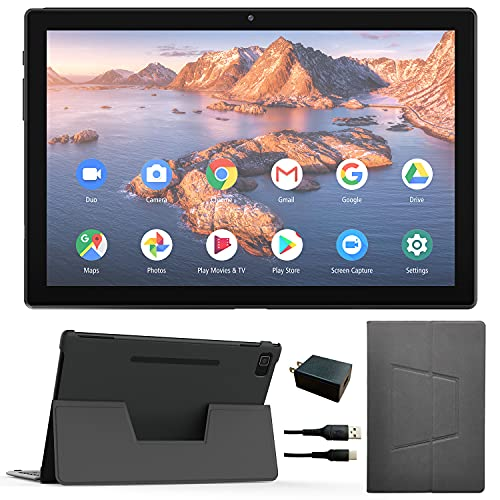 Tablet 10.1 Inch Android 10.0, 4GB+64GB/ 128GB Extend Octa-Core 1.6 GHz Processor Tablets,13MP Rear Camera, Bluetooth 5.0, Wi-Fi, GPS + Tablet with Keyboard Case. (64G)