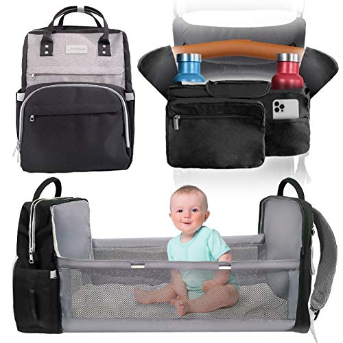 Diaper Bag Backpack with Changing Station and Free Stroller Organizer, Portable Changing Pad, Baby Bag, Diaper Bag, Baby Bed, Baby Changing Pad, Baby Diaper Bag, Diaper Changing Pad, Diaperbag