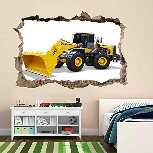 Pegatinas de pared Cargador de ruedas Arte de la pared Etiqueta Mural Calcomanía Niños Dormitorio Sala de juegos Decoración de oficina Decoración infantil de pared