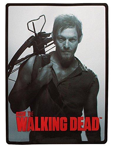 "Rabbit Tanaka The Walking Dead Daryl Dixon Soft Fleece Throw Blanket 46"" x 60"" Plus Free Negan & Lucille Keychain"