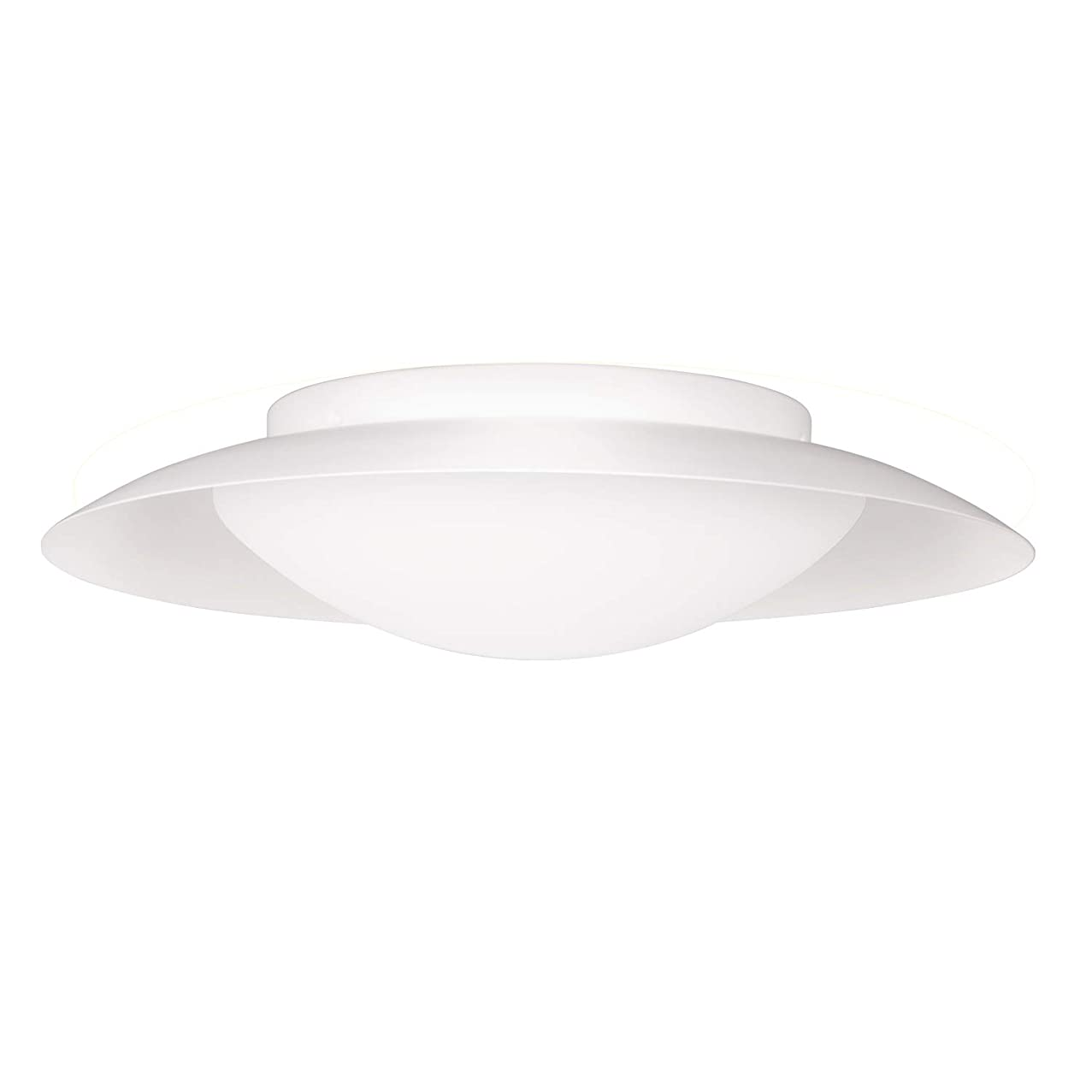 GetInLight LED Flush Mount Ceiling Light, 18-Inch, 30W(150W Equivalent), White Finish, 4000K(Bright White), Dimmable, Round, Wet Location Rated, ETL Listed, IN-0318-4-WH-40