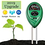 Swiser Soil PH Meter,3-in-1 Soil Test Kit for Moisture, Light & PH Test, Indoor/Outdoor Plant Care Soil Tester, for Home and Garden, Farm, Plants, Herbs & Gardening Tools (Green)