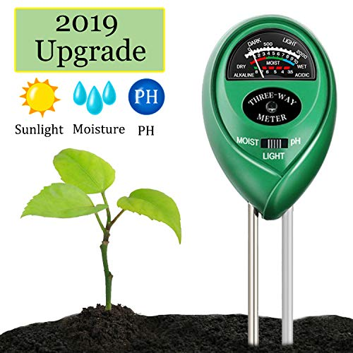 Sale!! Swiser Soil PH Meter,3-in-1 Soil Test Kit for Moisture, Light & PH Test, Indoor/Outdoor Plant...