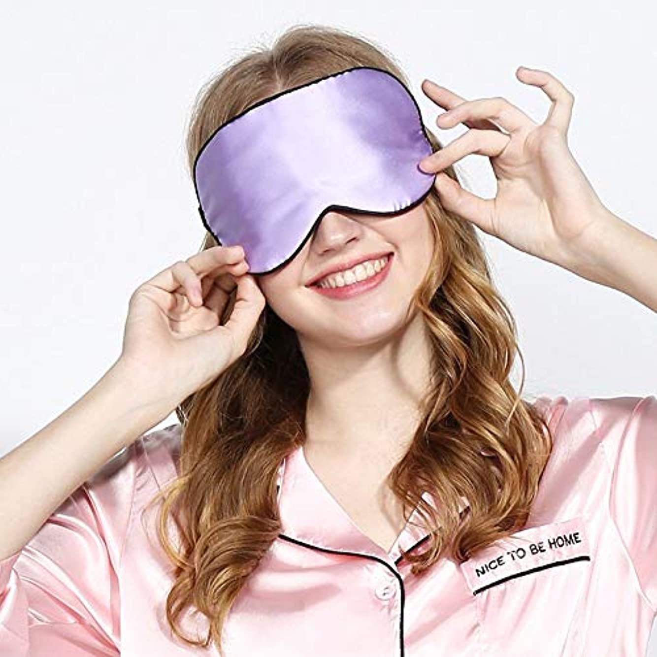 マーキングずらす航空会社メモファッション睡眠マスクストラップナチュラルシルクスーパースムース睡眠アイシェード睡眠アクセサリーアイマスク用アイケアツールHB88