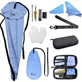 YZNLife Saxophone Cleaning Kit with Case Included Thumb Rest Cushion Reed Case Mouthpiece Brush Mini Screwdriver Cleaning Cloth...