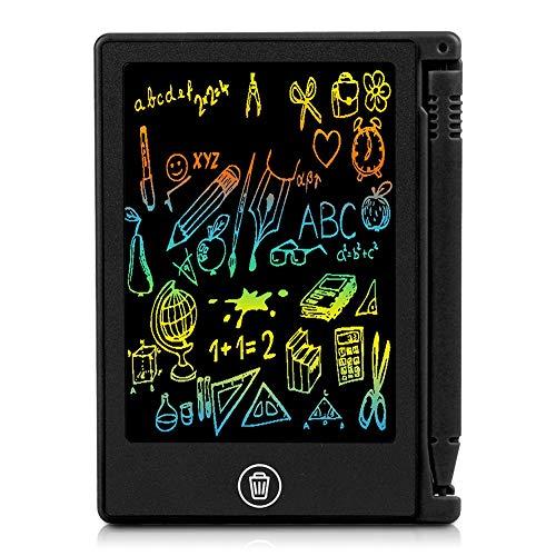 Preisvergleich Produktbild Mugast LCD Writing Tablet, Ultradünne 4, 5 Zoll LCD-Display Digital Schreibtafel Papierlos Grafiktablet, Tragbar Multifunktion Handschrift Schreibtafel Schreiben Malen für Kinder(Schwarz)