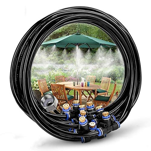 MMBBOD Kit Nebulizadores para Terrazas, Sistema de Nebulizacion para Exteriores jardín Pergola, Kit de Sistema de Enfriamiento por Nebulización, DIY Automático Riego para Invernaderos, Jardines