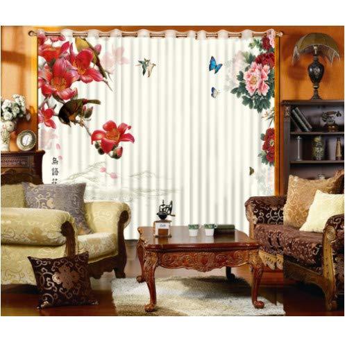 cortinas opacas flores