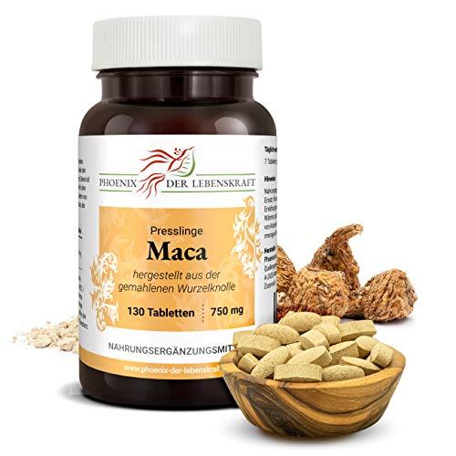Maca Tabletten à 750mg, 130 Tabletten, Premium Qualität, Hergestellt in Österreich, Tabletten statt Kapseln, Vegan