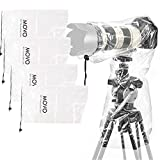 Movo (5 Pack) RC1 Clear Rain Cover for DSLR Camera and Lens up to 18' Long