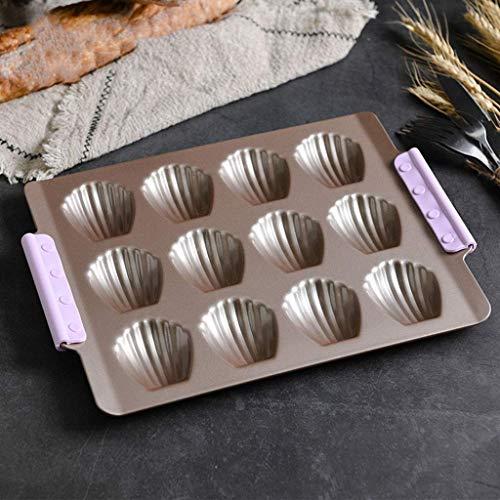 GJJSZ 12 Petits moules à gâteaux   Moules   Petit Plateau à gâteaux à Coquille Outils de Moule à Biscuits pour Pain antiadhésif Facile à Nettoyer