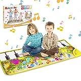 Tapis de Piano Tapis de Musical, Jouet de Tapis de Musique pour Enfants, Tapis de Jeu pour Piano, Tapis de Danse Piano pour Bébés Filles Garçons Tout-Petits (Dinosaure) 108.5*36.5cm