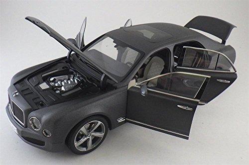 Bentley Mulsanne Speed Matte Dark Gray 1/18 Diecast Model Car by Kyosho 08910 DGS