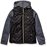 Pink Platinum Girls' Toddler Quilted Vest Puffer, Black, 4T
