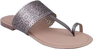 pelle albero Womens Gmetal Flat Slippers