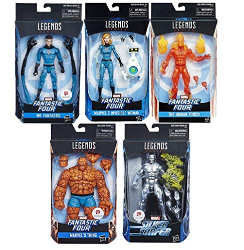 Human Torch Fantastic Four collection Mr Fantastic Thing Marvel Legends