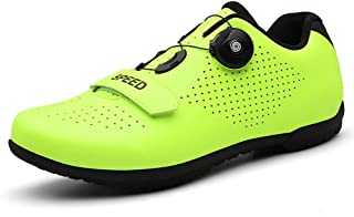 OneChange Road Cycling Shoes Mens Womens Breathable Anti-Skid Road Bike Shoes MTB Cycle Shoes Without Cleats (Color : Green, Size : 13 UK)