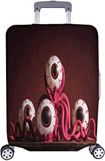 FOLPPLY Cute Ghost Luggage Cover Baggage Suitcase Travel Protector Fit for 18-32 Inch