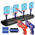Tuptoel Boys Toys, Kids Indoor Toy Guns Set Home LED Auto Reset Electronic Shooting Target Kids Game Set Multi-Player Game Holiday Toys Sports Gifts for Boys Age 6 7 8 9 10+