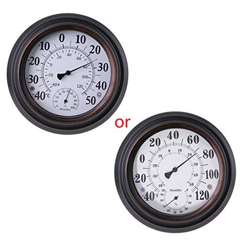 User Leiouser - Termometro igrometro vintage ad alta sensibilità, con display ℃ ℉ per interni e umidità