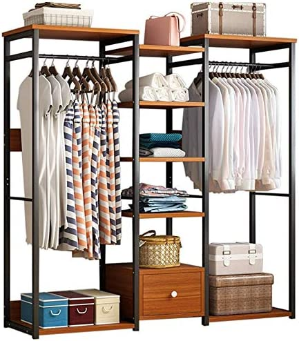 amidoa Free Standing Surprise price Closet Organizer R Clothes Outlet SALE Hanger Cloakroom